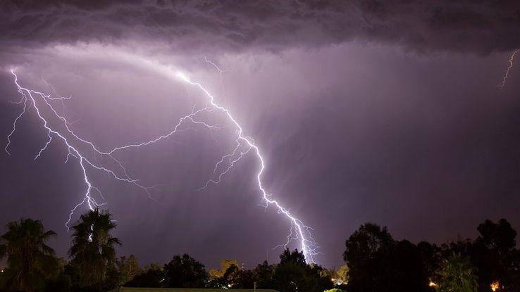 Éclair pendant un orage